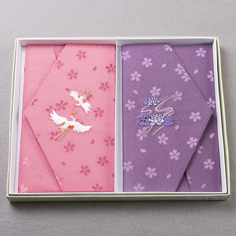 【メール便送料無料】慶弔両用ふくさセット 2枚入り袱紗 日本製 結婚式 かわいい