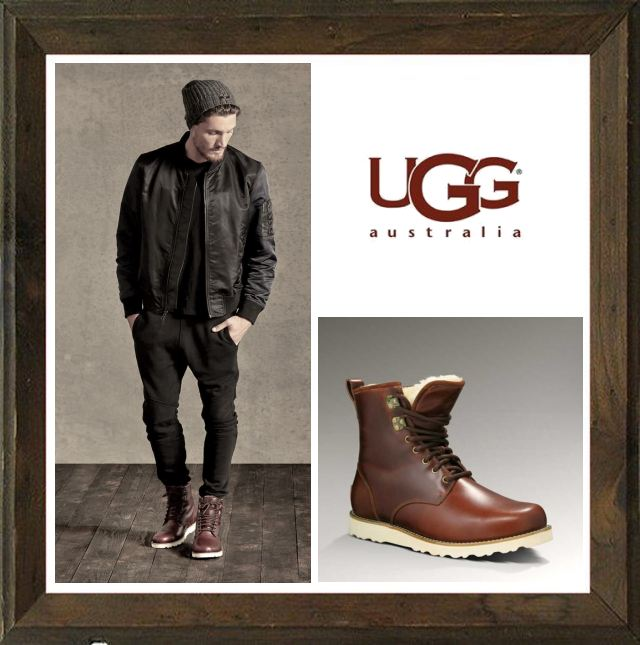 World Select Web Shop ORSAY | Rakuten Global Market: And UGG Australia Hann TL Mens Leather HI lace-cut leather boots color ghodbane Brown