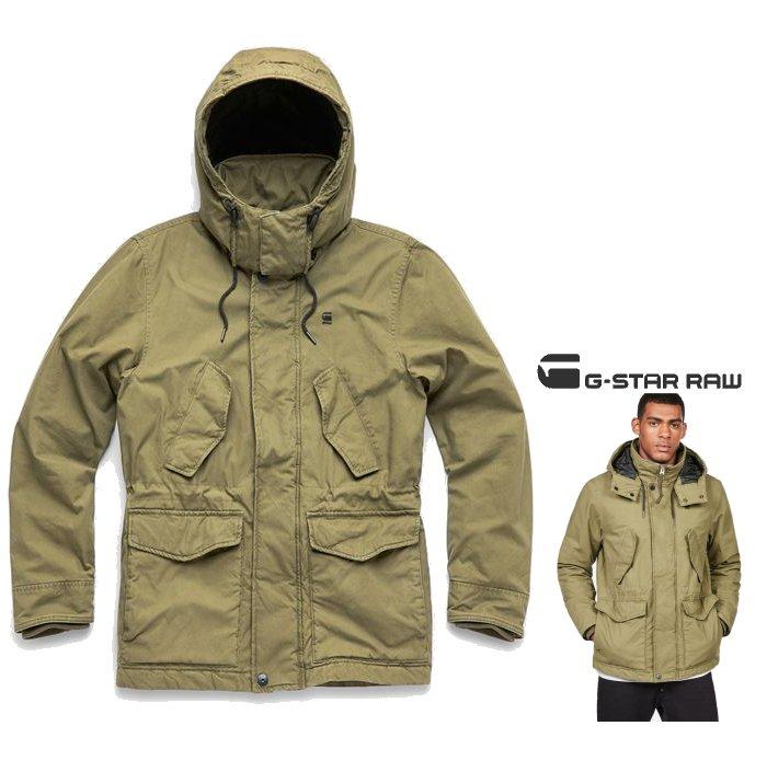 ■40%OFF■【 ジースターロウ 】Vodan Padded Hooded Jacketミリタリー 中綿 カバーオールcolor:【 SAGE 】カーキグリーン