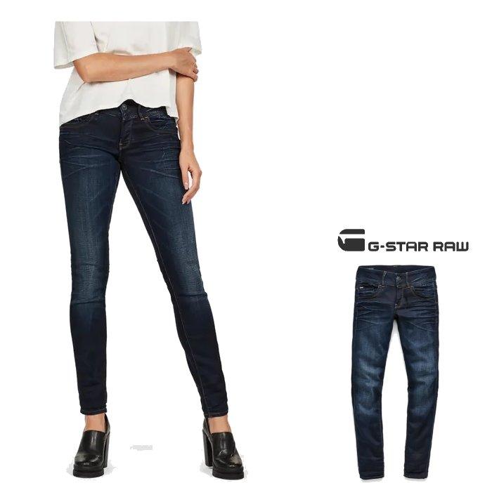 Laufschuhe Skate-Schuhe autorisierte Website G-STAR RAW Lynn Mid Waist Skinny Jeans SKINNY FIT, a stretch color  underwear color: Navy