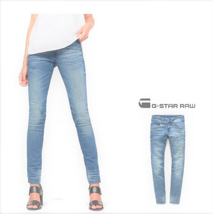 G-STAR RAW【 ジースターロウ 】Lynn D-Mid Skinny JeansSKINNY FIT・ストレッチカラーパンツcolor:【 Lt Aged 】ライト・エイジド