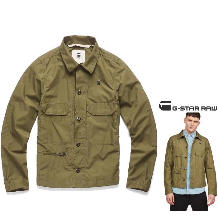 G-STAR RAW【 ジースターロウ 】Xpo Work Overshirtダブル・フラップ POCKETデザイン・ブラウス・ジャケットcolor:【 Sage 】カーキ