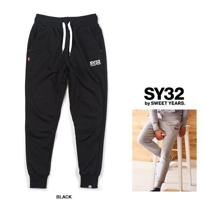 SY32 by SWEET YEARS【 スィートイヤーズ 】REGULAR SWEAT PANTロゴ・スウェットパンツcolor:【 BLACK 】ブラック