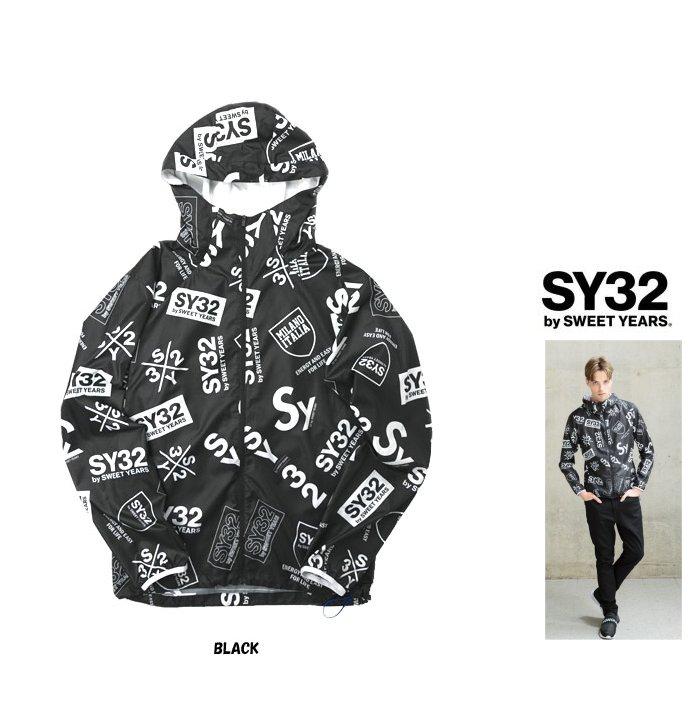 SY32 by SWEET YEARS【 スィートイヤーズ 】9130 BK ACTIVE WINDBREAKER ZIP HOODIEフーデッド・アクティブ・ウインドブレーカーcolor:【 BLACK 】ブラック