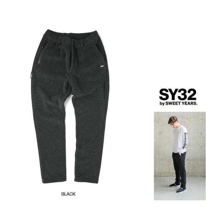 SY32 by SWEET YEARS【 スィートイヤーズ 】9112 POLARTEC PANTSポーラテック・スウェットパンツcolor:【 BLACK 】ブラック