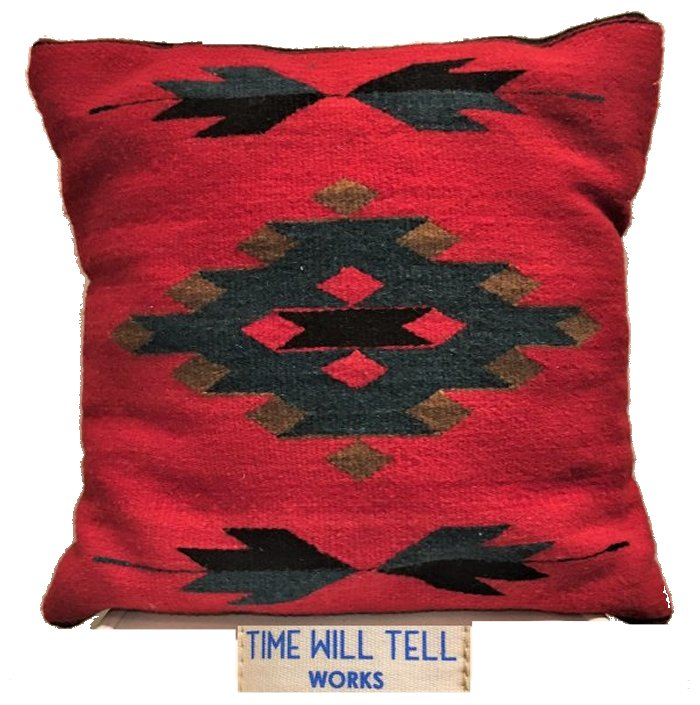 TIME WILL TELL WORKS【 タイムウィルテルワークス 】ZAPOTEC INDIAN CUSHIONネイティブ柄 クッションcolor【 RED DIAMOND 】レッド系色