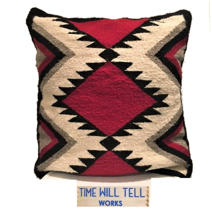TIME WILL TELL WORKS【 タイムウィルテルワークス 】ZAPOTEC INDIAN CUSHIONT.W TELL ZAPOTEC RAGネイティブ柄 クッションcolor【 RED&WHITE DIAMOND 】レッド×ホワイト系色