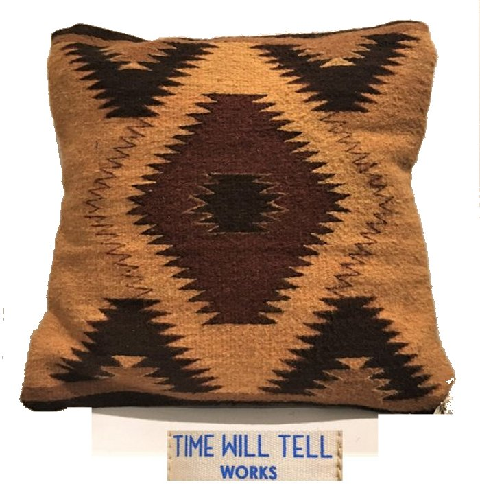 TIME WILL TELL WORKS【 タイムウィルテルワークス 】ZAPOTEC INDIAN CUSHIONT.W TELL ZAPOTEC RAGネイティブ柄 クッションcolor【 CAMEL DIAMOND 】キャメルブラウン系色