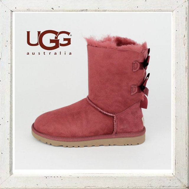 World Select Web Shop ORSAY | Rakuten Global Market: UGG Australia by 2015-16 Barry bow Ribbon Sheepskin short boot Reza sheep skin color pink