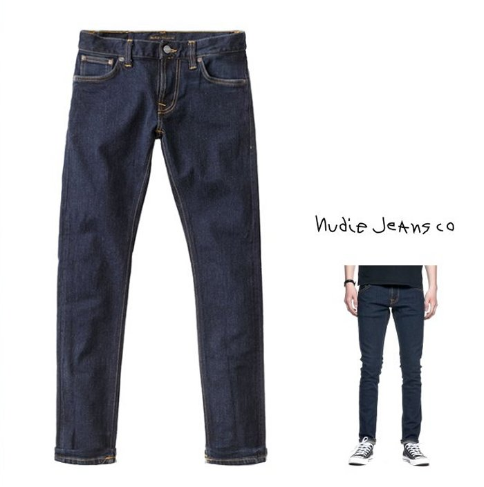 Nudie Jeans ヌーディー・ジーンズ 【 Tight Terry 】タイト・テリーレングス L32・ストレッチ・デニム12.75 OZ. POWER STRETCH SELVAGEthreads all over Gunmetal trimscolor:807【 RINSE 】リンス