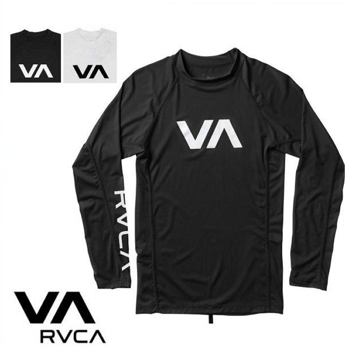world select web shop orsay rvca logo long sleeves rush guard l s