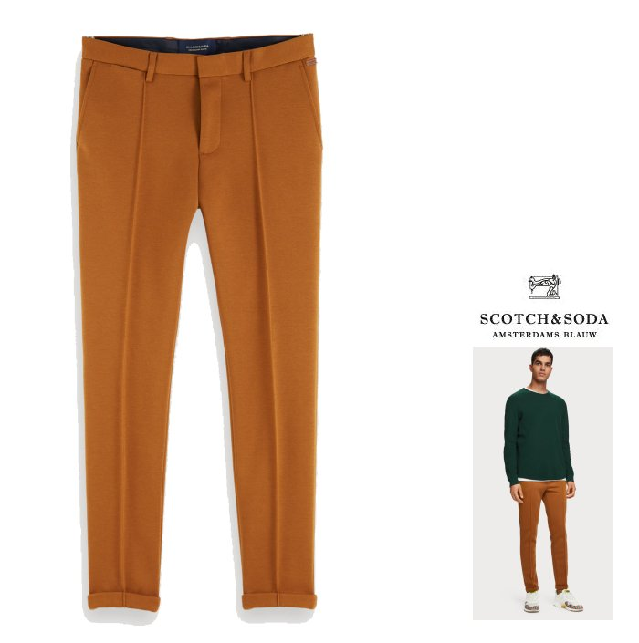 SCOTCH&SODA【 スコッチ&ソーダ 】【 Mott - Pintuck Trousers 】ストレッチ・スーパースリムFIT・ピンタック・トラウザーパンツcolor:【 Down Town Brown 】キャメル
