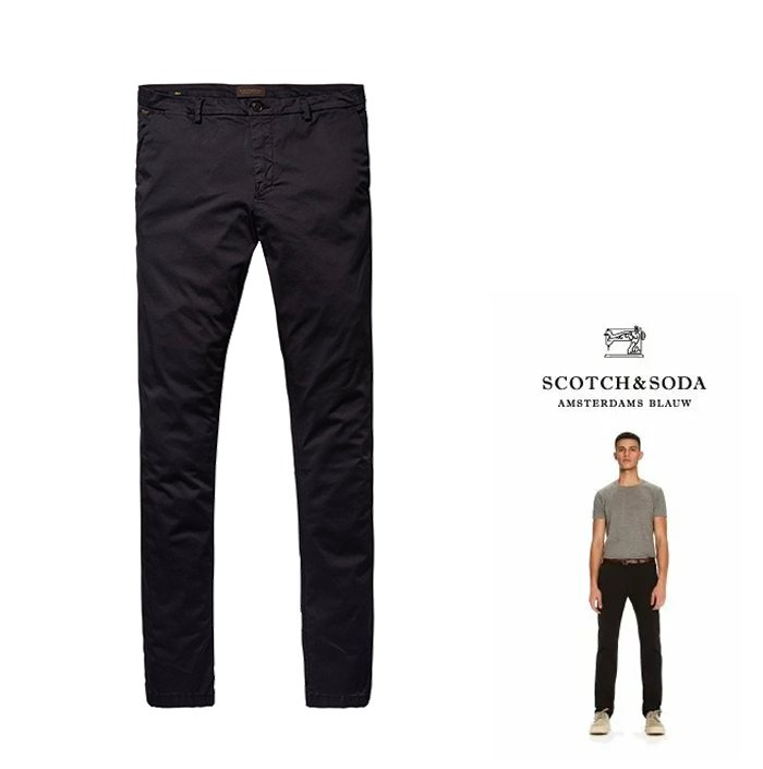 SCOTCH&SODA【 スコッチ&ソーダ 】【 MOTT 】Basic Chinos Super Slim FitスーパースリムFIT・チノパンツcolor:【 NIGHT 】ネイビー