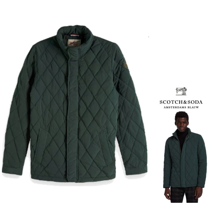 SCOTCH&SODA 【 スコッチ&ソーダ 】Lightweight Quilted Jacketキルテット ナイロン ジャケットcolor:【 Spruce Green 】グリーン