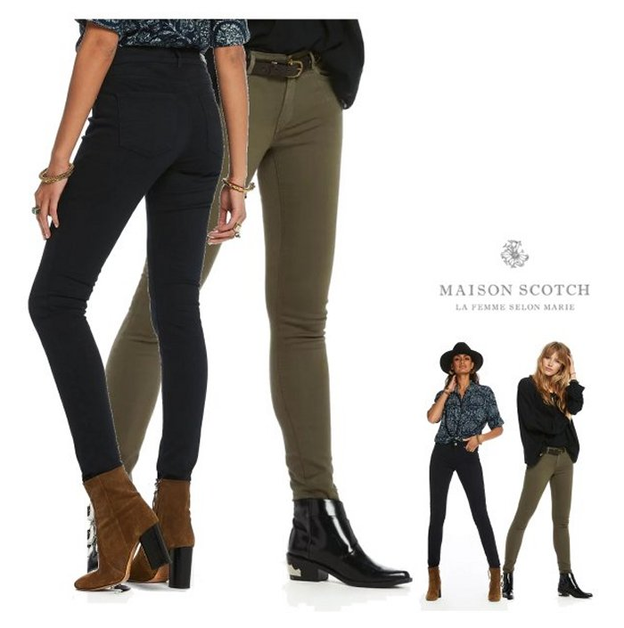 MAISON SCOTCH【 スコッチ&ソーダ★メゾンスコッチ 】La Bohemienne - Colour Roulette Mid-rise skinny fitスキニー カラーパンツCOLOR:【 Army 】アーミーCOLOR:【 Night 】ネイビー