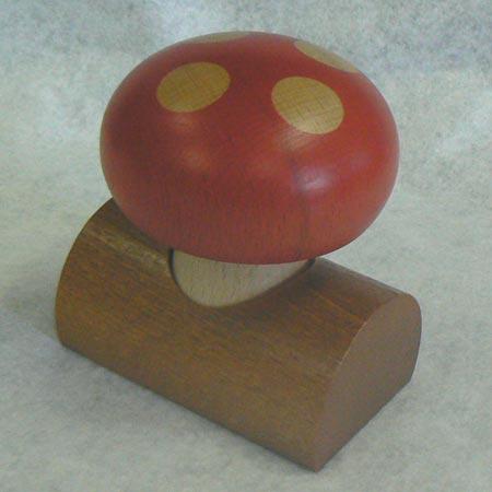 夢の木工房 森の贈り物シリーズ(キノコ スタンド付き ♪星に願いを)カラクリ プレゼント きのこ