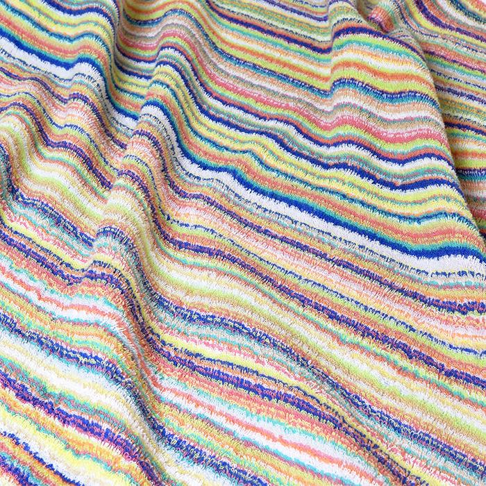 Oruta Bath Towel Stripe; Set Of 2 Blue Imabari CYBERL
