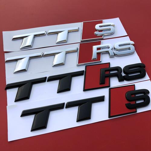 純正ではございません 高品質のOEM商品となります 送料無料 Audi アウデイ TT 秀逸 S 無料サンプルOK RS エンブレム 欧車パーツ BASE スポーツ車 社外品 リア アルファベット