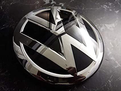 純正商品となります 送料無料 VW フォルクスワーゲン メッキ 新着セール エンブレム マットクローム 3G0853601A ゴルフ パサート 使用可 新品 鏡面仕上げ 欧車パーツBASE