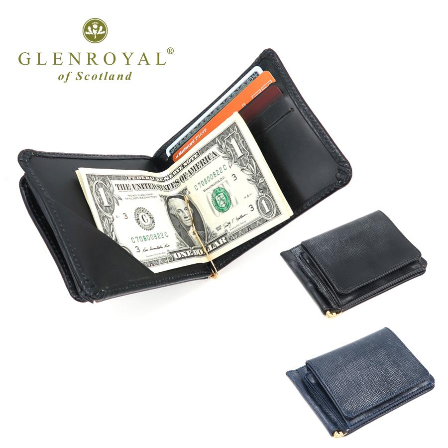 グレンロイヤル GLENROYAL LB03-6164 フルブライドルレザー マネークリップ (小銭入れ 付き) | おしゃれ ブランド メンズ 財布 カードも入る コインケース レイクランドブライドル 男性 プレゼント 二つ折り財布 小物 レザー 革財布 2つ折り 紳士 折財布 メンズサイフ