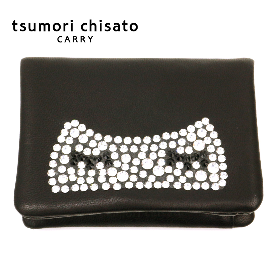 ツモリチサト tsumori chisato キラネコ パスケース 57330 猫 ドット 本革 日本製 ねこ 女性 彼女 ギフト