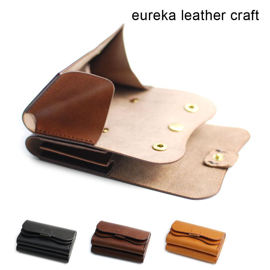 【クーポン利用で800円OFF!】【送料無料】短財布 ヌメ革 本革 日本製 eureka leathercraft ユリカレザークラフト