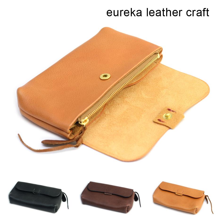 【クーポン利用で800円OFF!】【送料無料】長財布 ヌメ革 本革 日本製 eureka leathercraft ユリカレザークラフト