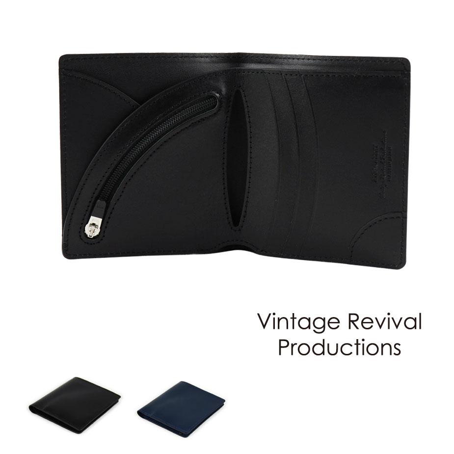【送料無料】二つ折り財布 薄い スムースレザー Air Wallet エアーウォレット 本革 日本製 Vintage Revival Productions【新生活 ビジネス 就職 卒業 引越 新社会人 プレゼント ギフト】