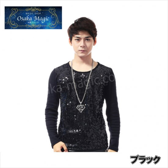 使い勝手の良い スパンコールのステージ映えするTシャツ 本店 スパンコール長袖Tシャツ 衣装