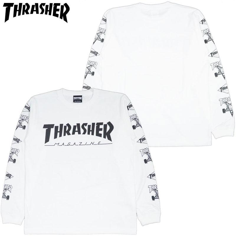 a5498b19c Slasher THRASHER MAG Multi-C LONGSLEEVE (white white WHITE BLACK) slasher  Ron T THRASHER Ron T slasher long T-shirt THRASHER long T-shirt slasher mug  logo ...