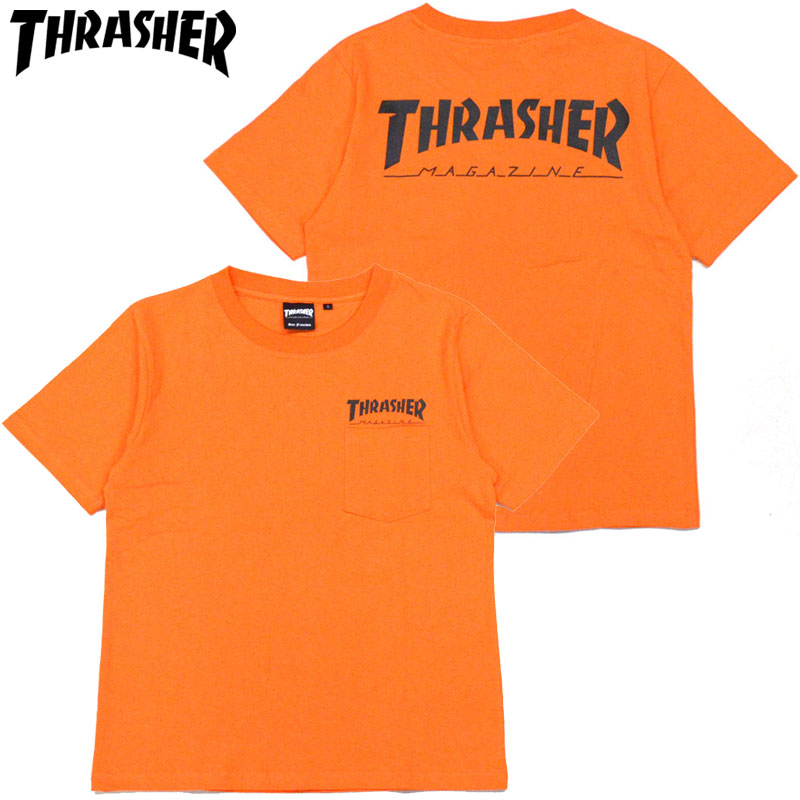 b10c77c1 Slasher THRASHER HOMETWON POCKET T-SHIRT (orange ORANGE/BLACK) slasher pocket  T ...