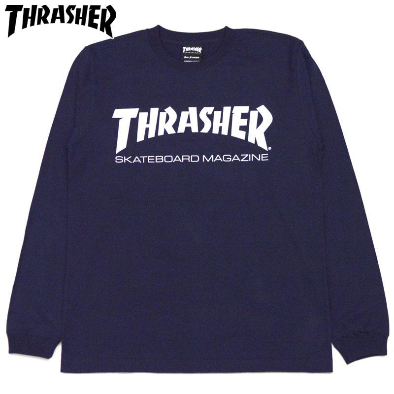 49220fe2 Slasher THRASHER MAG LONGSLEEVE (navy dark blue NAVY) slasher Ron T THRASHER  Ron T ...