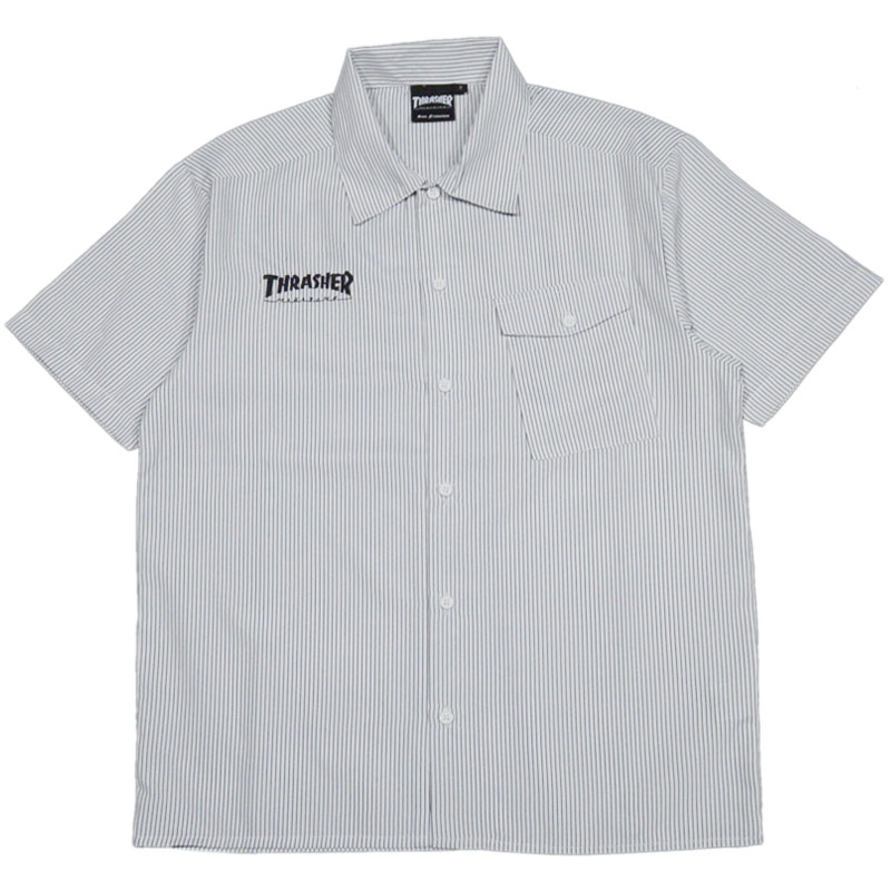 f43f0fb43f Slasher THRASHER HOMETOWN S/S WORK SHIRT (black black BLACK STRIPE) slasher  shirt THRASHER shirt slasher work shirt THRASHER work shirt slasher  WORKSHIRT ...
