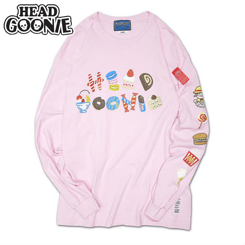 ヘッドグーニー HEADGOONIE SWEETS GOONIE LONGSLEEVE T-shirts(ピンク PINK)ヘッドグーニーロンT HEADGOONIEロンT ヘッドグーニーロングTシャツ HEADGOONIEロングTシャツ