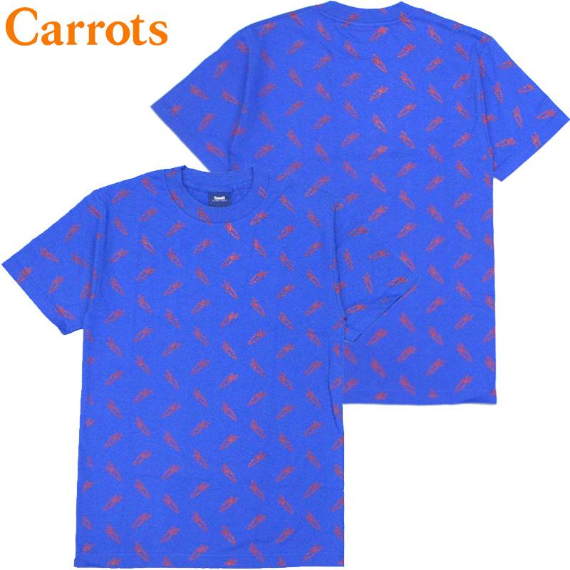 キャロッツ Carrots ALL OVER CARROT TEE(ROYAL)キャロッツTシャツ CarrotsTシャツ キャロッツ半袖 Carrots半袖 carrots CARROTS