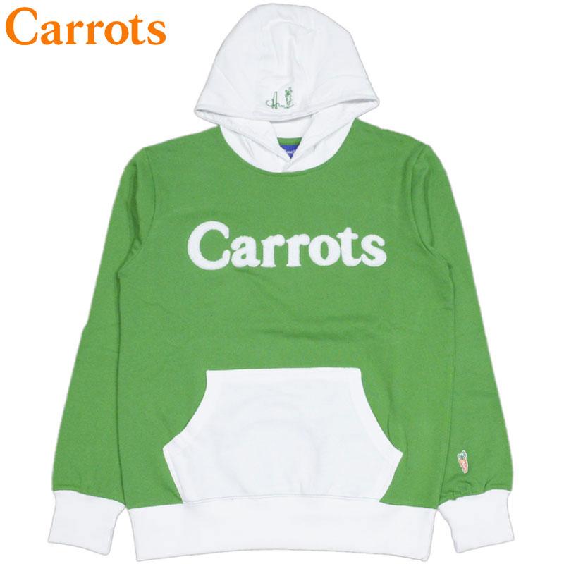 送料無料 キャロッツ Carrots WORDMARK HOODIE(グリーン 緑 GREEN/WHITE)キャロッツパーカ Carrotsパーカ キャロッツプルオーバー Carrotsプルオーバー carrots CARROTS