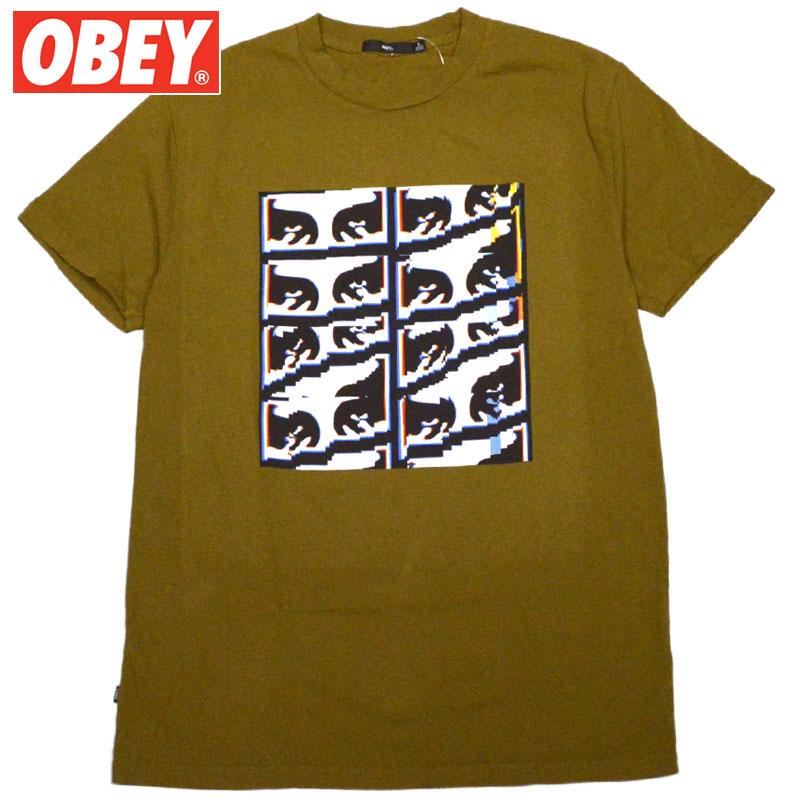 オベイ OBEY GLITCH BASIC PIGMENT TEE(DUSTY TAPENADE)オベイTシャツ OBEYTシャツ オベイ半袖 OBEY半袖