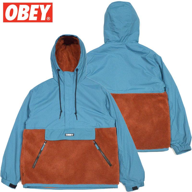 送料無料 オベイ OBEY SPLITS SHERPA ANORAK JACKET(PURE TEAL MULTI)オベイアノラックジャケット OBEYアノラックジャケット オベイジャケット OBEYジャケット