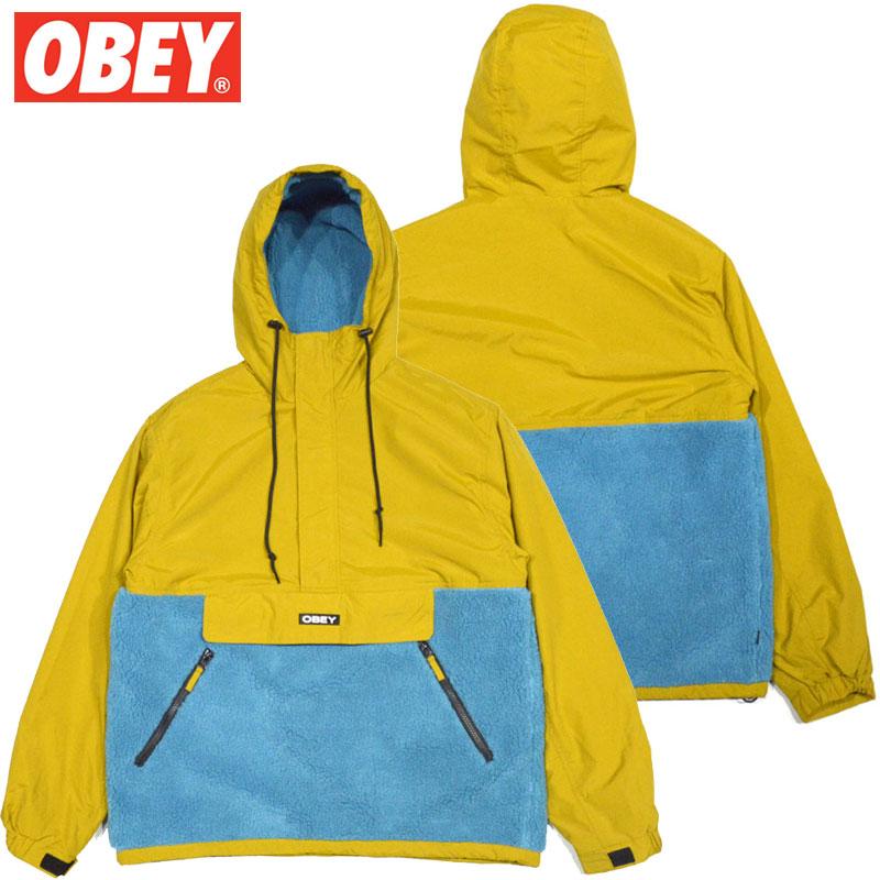 送料無料 オベイ OBEY SPLITS SHERPA ANORAK JACKET(GOLDEN PLAM MULTI)オベイアノラックジャケット OBEYアノラックジャケット オベイジャケット OBEYジャケット