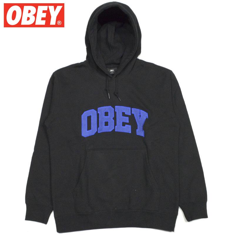 オベイ OBEY OBEY UNI HOOD SPECIALITY FLEECE(ブラック 黒 BLACK)オベイパーカ OBEYパーカ オベイプルオーバー OBEYプルオーバー オベイ長袖 OBEY長袖