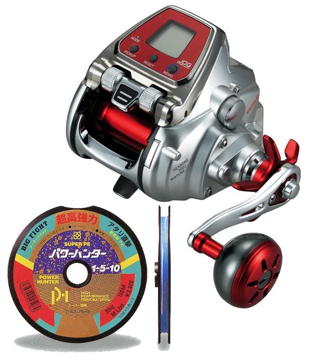 【送料無料!】 ダイワ(daiwa)シーボーグ 500J イカチューン (IKA TUNE)PE4号400m (よつあみパワーハンター)セット! 電動リールに糸を巻いてお届けします!