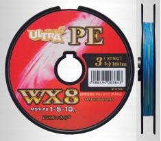 YGK yotsunoha Ami Dyneema 超 WX8 6 号 100 米到统一的 PE 线