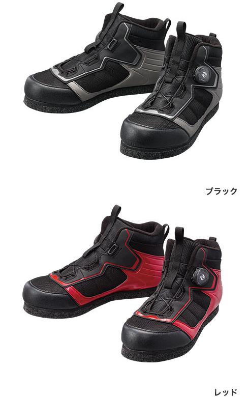 シマノ(shimano) FS-041Q カットラバーピンフェルトフィットシューズ LT ブラック/レッド