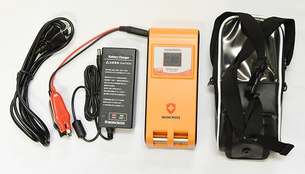 【送料無料!】モンクロス MONCROSS リール専用リチウムバッテリー 8700mAh 充電器付き 電動リール専用バッテリー