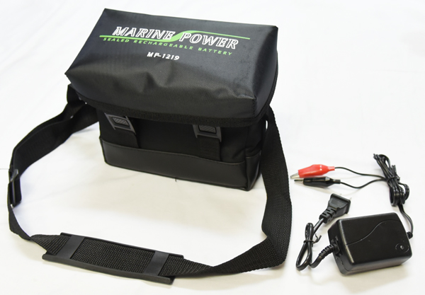 【送料無料!大容量!】 マリンパワーバッテリー MP-1219 12V-19Ah 充電器付き 中・小型電動リール専用バッテリー(ラムセス)
