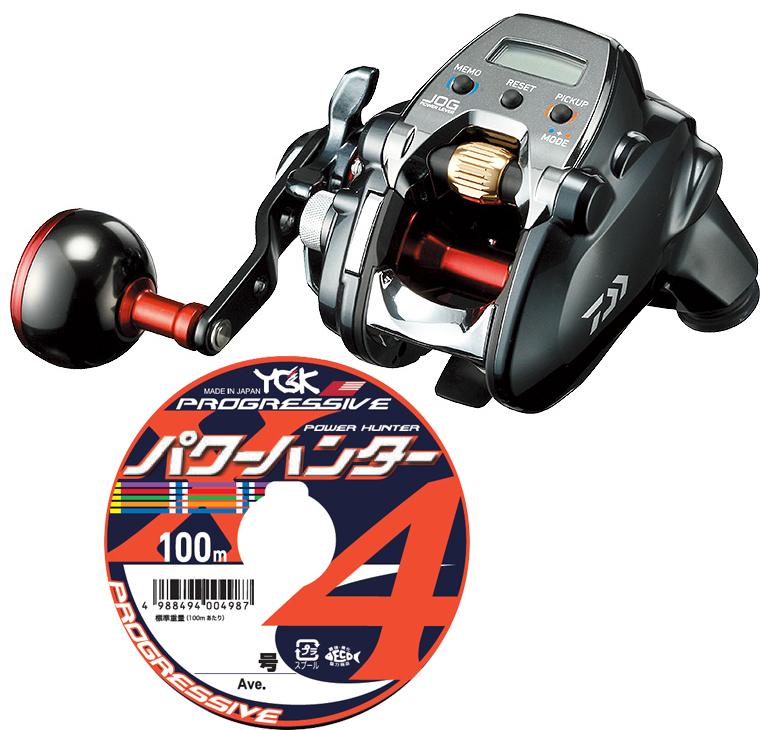 【送料無料】 ダイワ(daiwa) 19 シーボーグ 200JL (左巻) PEライン3号200m(よつあみ パワーハンタープログレッシブ) 電動リールに糸を巻いてお届けします!