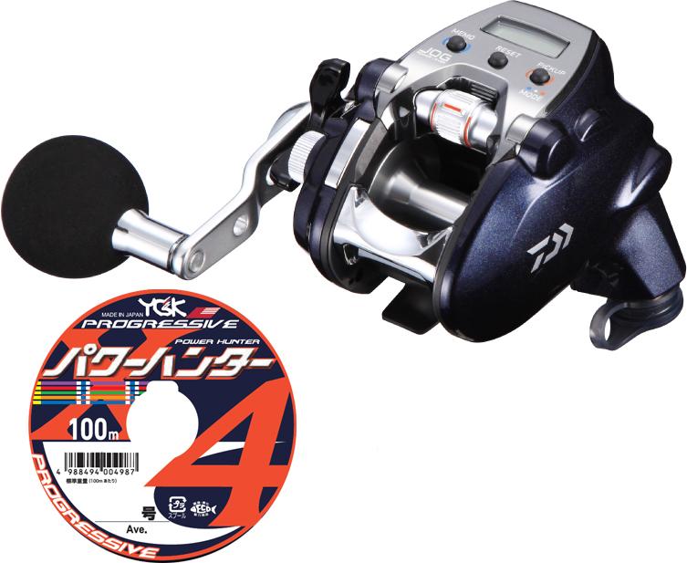 【送料無料】 ダイワ(daiwa)レオブリッツ 200J-L (左巻) PEライン3号200mセット!(よつあみパワーハンター プログレッシブ) 電動リールに糸を巻いてお届けします!
