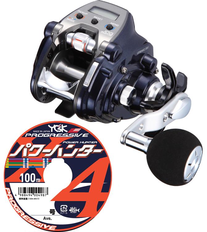 【送料無料】 ダイワ(daiwa)レオブリッツ 200J (右巻) PEライン3号200mセット!(よつあみパワーハンター プログレッシブ) 電動リールに糸を巻いてお届けします!