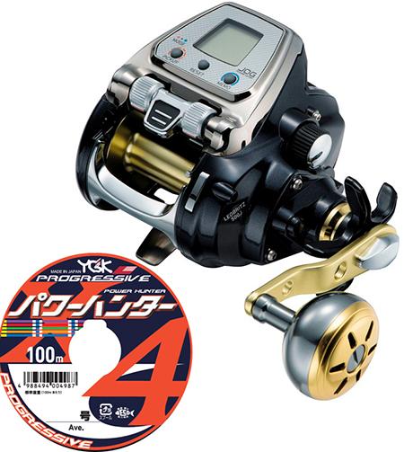 【送料無料】 ダイワ(daiwa)レオブリッツ 500J PEライン4号500mセット!(よつあみパワーハンター プログレッシブ) 電動リールに糸を巻いてお届けします!