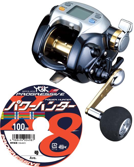 【送料無料】 ダイワ(daiwa)レオブリッツ S500 PEライン6号300mセット!(よつあみパワーハンター プログレッシブ) 電動リールに糸を巻いてお届けします!